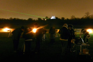 Telescopes with the Royal Observatory in the background