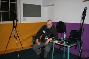 Brian takes a rest after a Astrophotography presentation