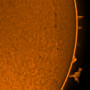 Detached prominence - taken on Blackheath by Tej Dyal