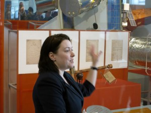 Curator Alison Boyle, Keeper of Science Collections at the Science Museum