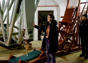 Our guide, Sarah Bosman, talks about the Northumberland Telescope