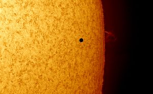 Mercury Transit, a few minutes after first contact