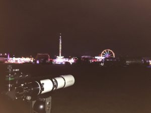 The start of our observing session, with the added backdrop of the Blackheath funfair!