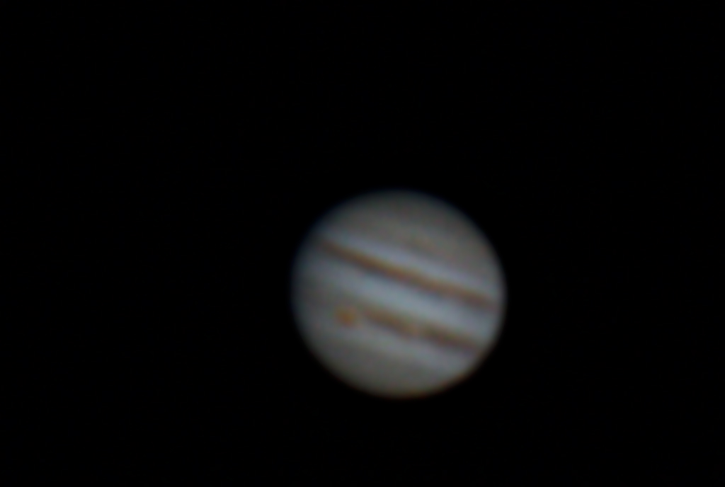 Jupiter with great red spot by Tej Dyal