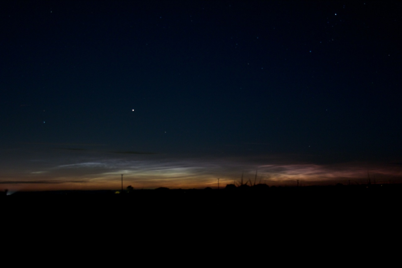 Noctilucent cloud from Romney by Martin Male