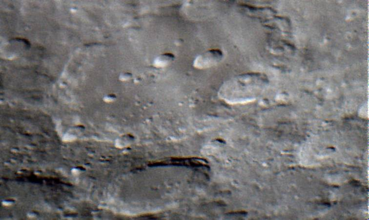 The Moon — Clavius crater, April 10, 2006