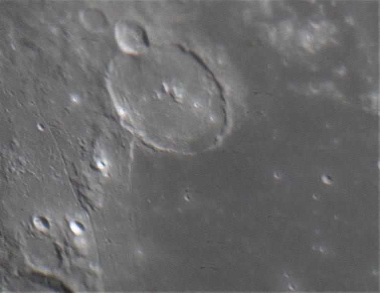 The Moon — Gassendi crater, April 10, 2006 by Tony Sizer