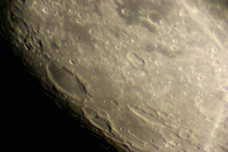 The Moon — Schickard Crater. Greenwich 28-inch Great Equatorial — by Tony Sizer, November 3, 2006
