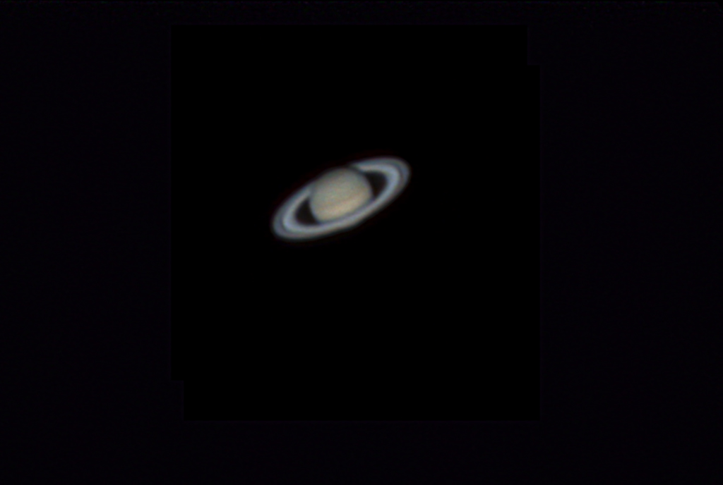 Saturn with Cassini Division by Tej Dyal 15 April 2014
