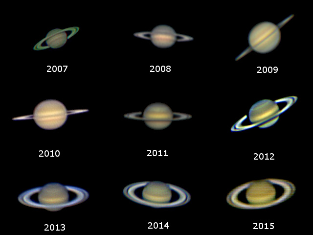 Montage of Saturn over a period of nine years by John Williams