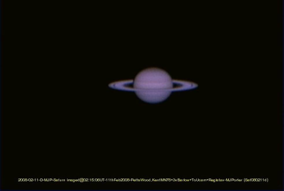 Saturn, 2008 Feb 11, Petts Wood Kent, by Malcolm Porter