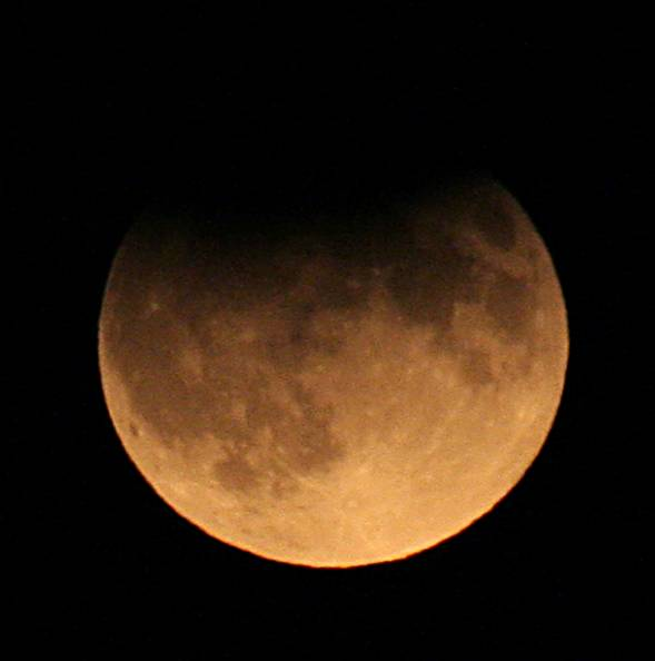 Eclipsed Moon Partial Lunar Eclipse