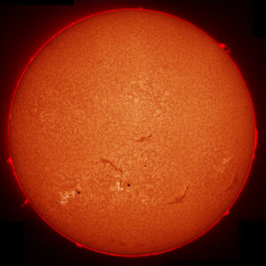 Sun in H-Alpha by Pete Lawrence